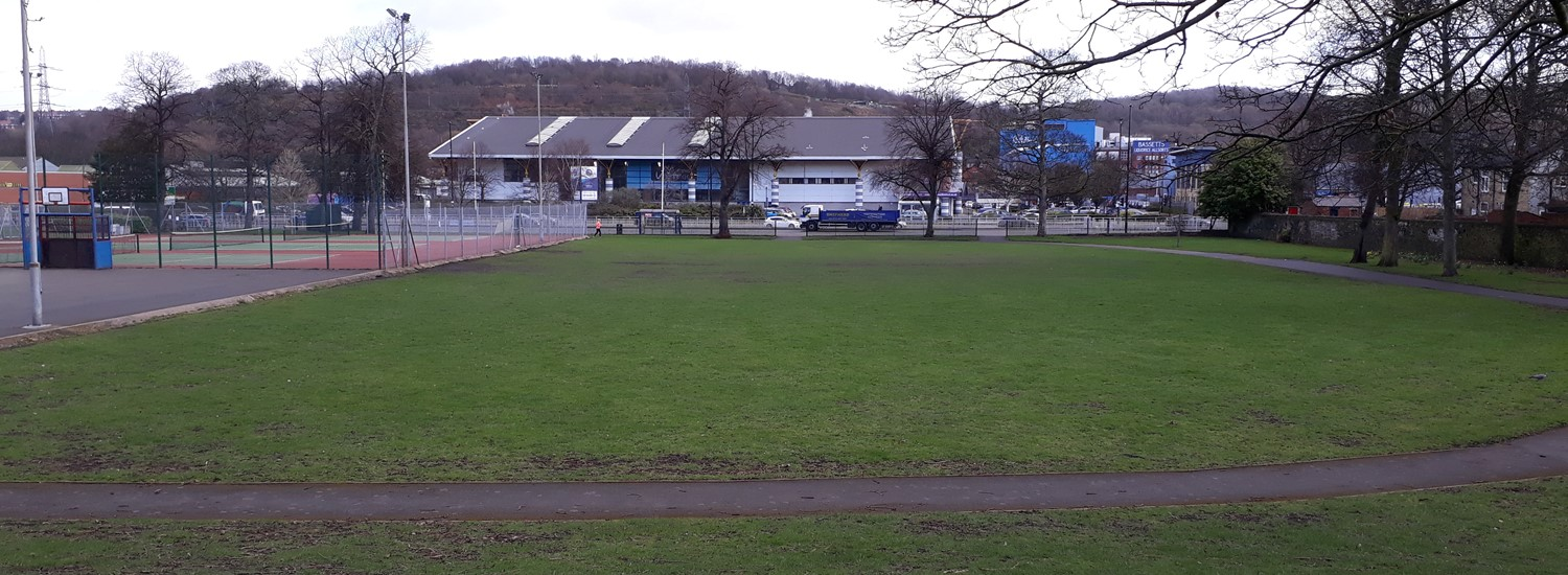 The proposed site for a new Hillsborough Park bike park