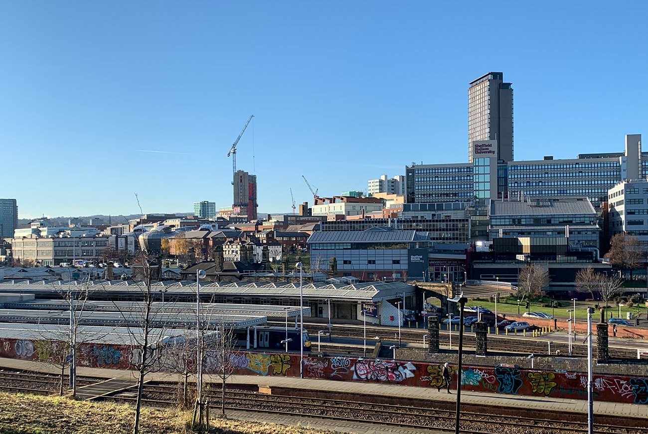 Sheffield city centre from Park Hill Flats