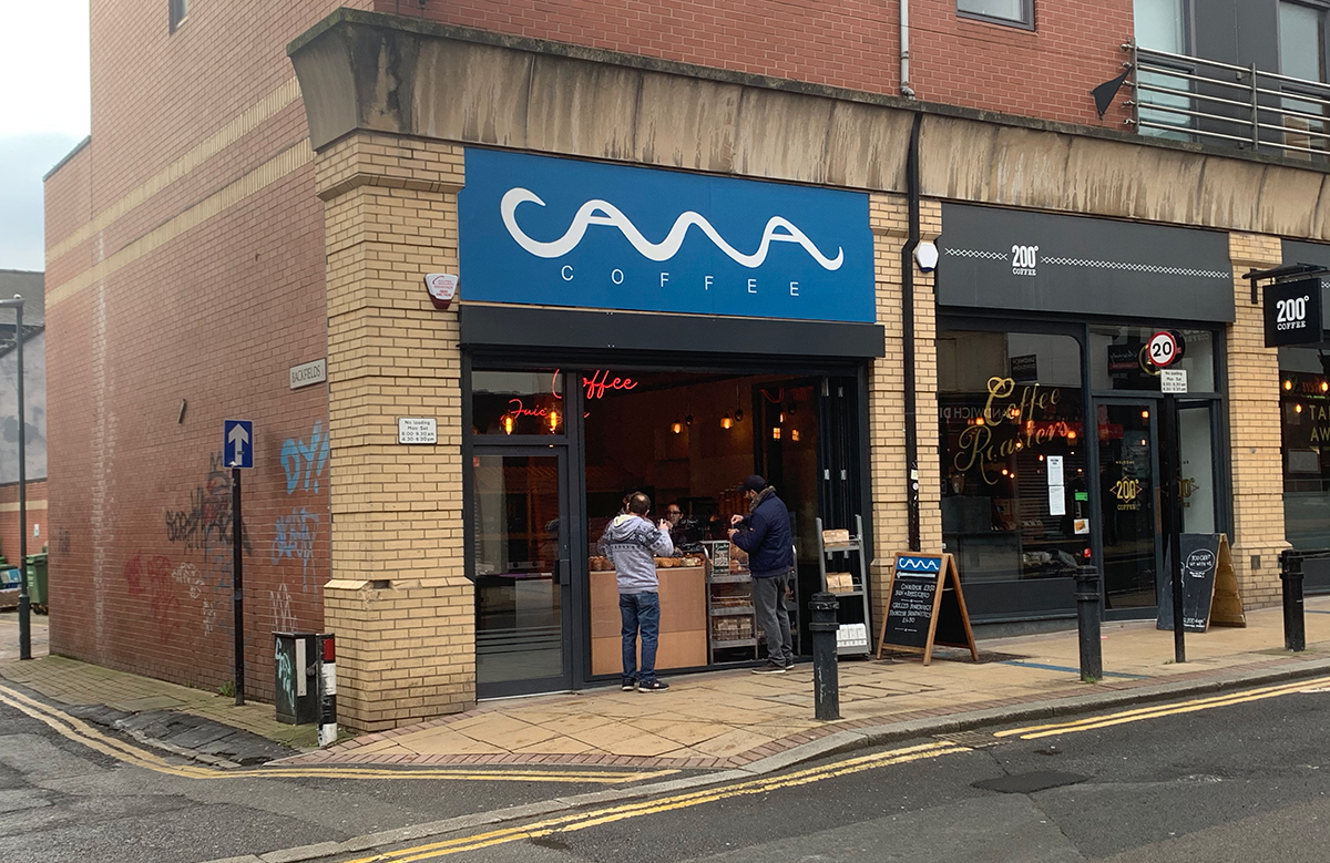 Cawa Coffee's new site on Division Street