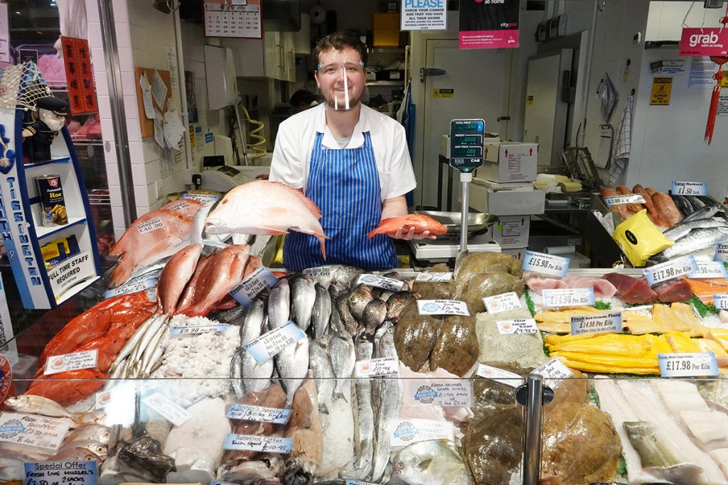 Moor Market fish mongers Smith and Tissington