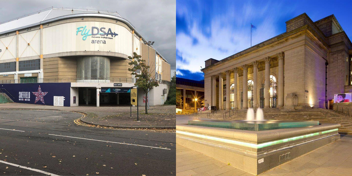Sheffield Arena and Sheffield City Hall